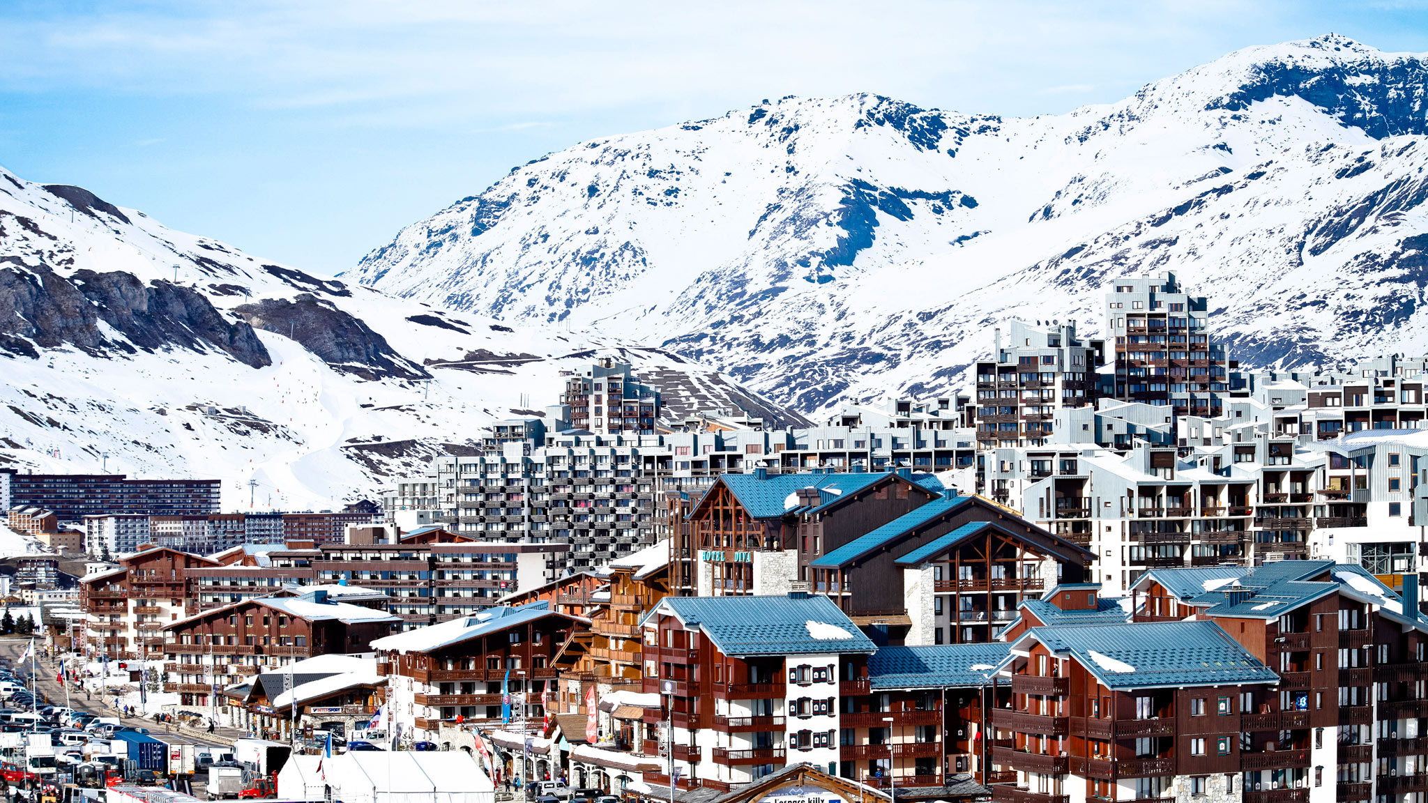 Big world   france urban buildings in the ski resort of tignes  france 073325