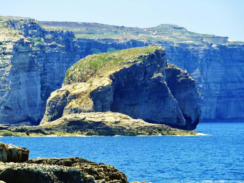 Big beatuiful nature of gozo island malta